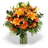 Orange Lilies , Gerberas & Carnations